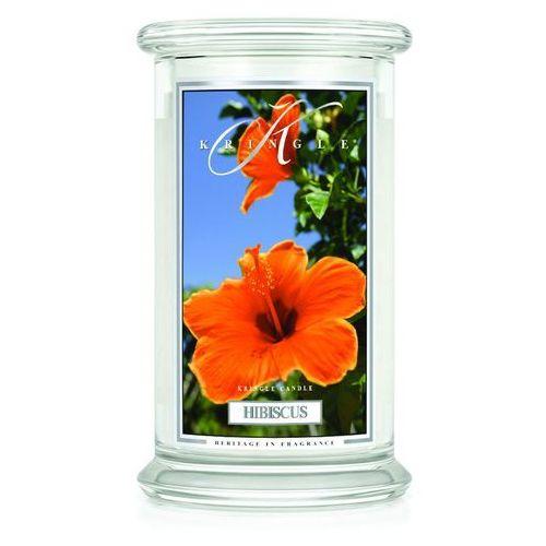 Hibiscus świeca zapachowa hibiskus duży słoik 22oz, 623g, 2 knoty marki Kringle candle