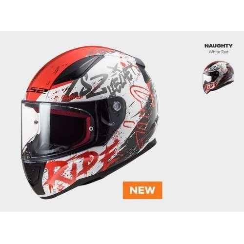 KASK MOTOCYKLOWY KASK LS2 FF353 RAPID NAUGHTY WHITE RED nowość: 2020, AK103534102