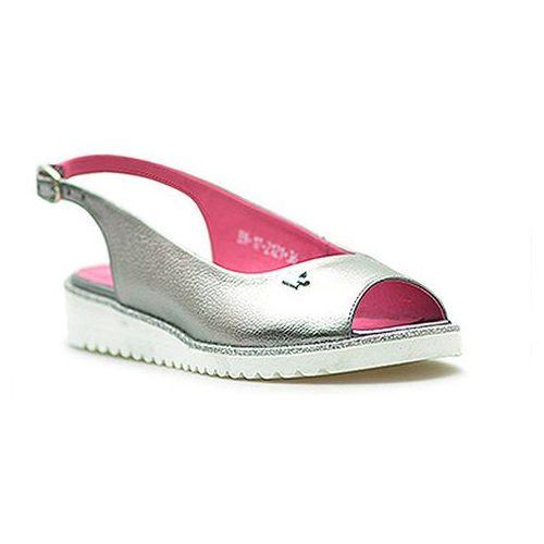 Sandały 2121/127-p szary/srebrny, Karino