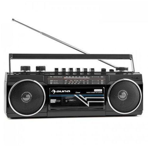 Auna Duke boombox retro przenośny odtwarzacz kasetowy usb sd bluetooth radio fm