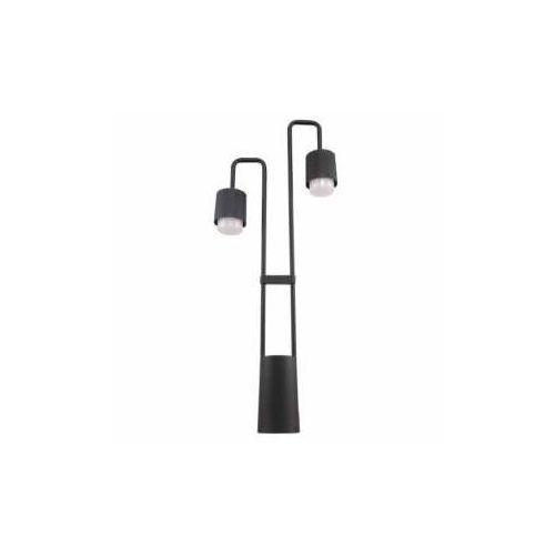 Italux Sorano C49/80/BK-9 lampa stojąca zewnętrzna 2x6W LED czarna (5900644439189)