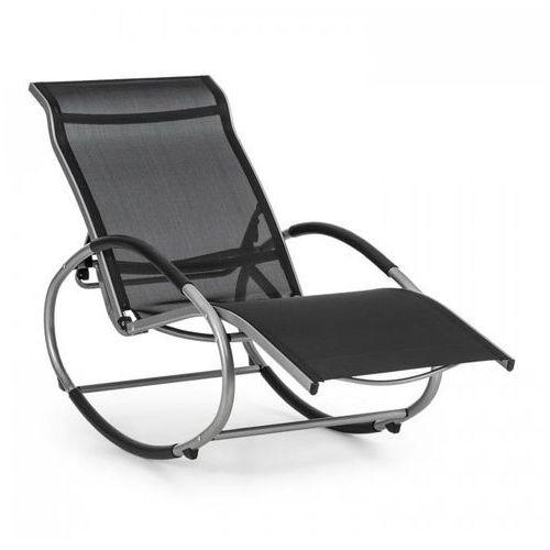 santorini fotel bujany leżak czarny marki Blumfeldt