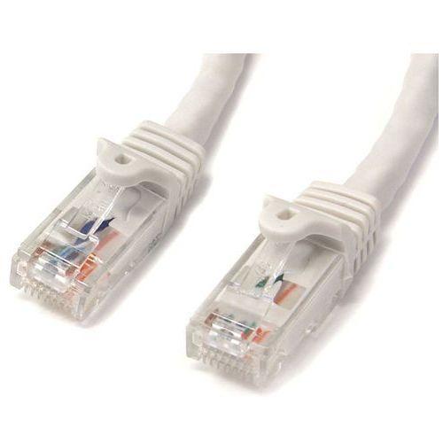 Startech.com 15 ft snagless startech cat6 utp patchkabel, etl-verified, czarna, spig9, biały – biały