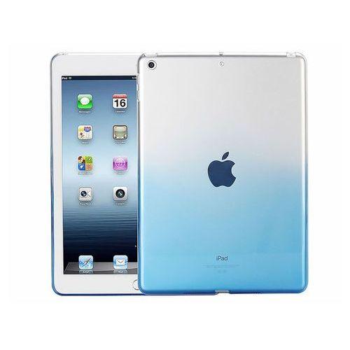 Etui Alogy ombre case Apple iPad 9.7 2017 / 2018 silikonowe niebieskie - Niebieski, kolor niebieski