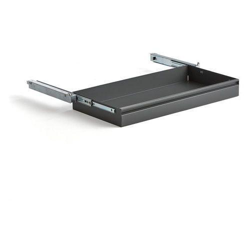 Wysuwana szuflada do szafy supply, 875x445 mm, ciemnoszary marki Aj produkty