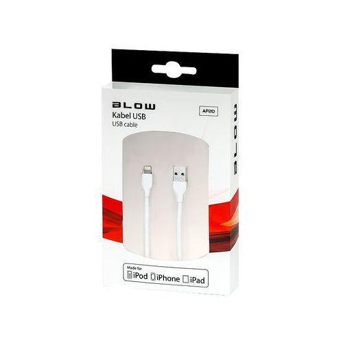 Blow kabel usb a -iphone 5/6 biały mfi 2m 66-080 - odbiór w 2000 punktach - salony, paczkomaty, stacje orlen (5900804072652)