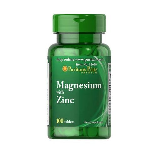 Puritan's pride Magnez z cynkiem 266mg 10mg magnesium with zinc 100 kapsułek
