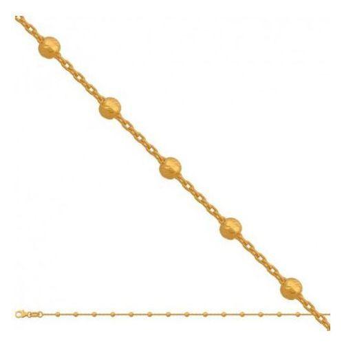 Łańcuszek złoty pr. 585 - Lv061, kolor żółty
