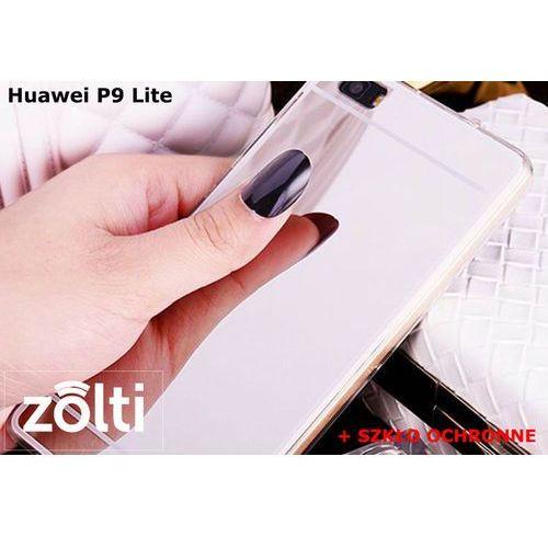 Zestaw   Slim Mirror Case Srebrny + Szkło ochronne Perfect Glass   Etui dla Huawei P9 Lite