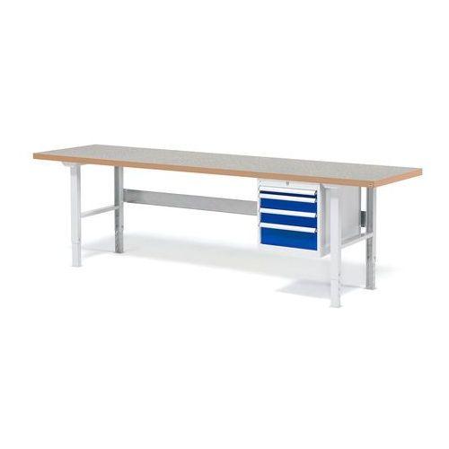 Stół warsztatowy z blatem o powierzchni winylowej 800x500x2500mm, 232175