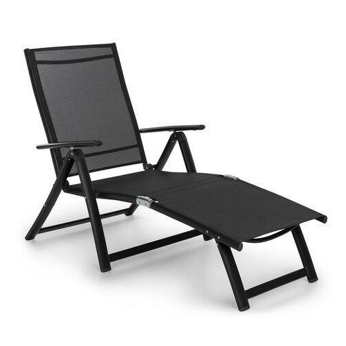 Blumfeldt pomporto lounge leżak pvc pe aluminium 7-stopni antracyt (4060656152245)