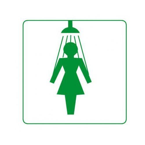 B2b partner Plastikowa tabliczka na drzwi - prysznic damski
