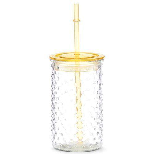 Słoiczek na lemoniadę lub sok, dekoracyjna szklanka z wieczkiem i słomką - 460 ml, marki Zeller