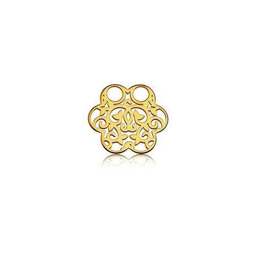 Blaszka celebrytka kwiatek - ażurowa, złoto próba 585 marki 925.pl