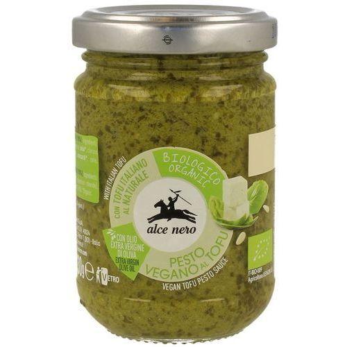 Alce nero (włoskie produkty) Pesto bazyliowe z tofu wegańskie bio 130 g - alce nero (8009004811874)