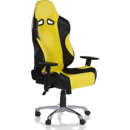 Makstor.pl Żółty sportowy kubełkowy fotel biurowy gabinetowy - żółty
