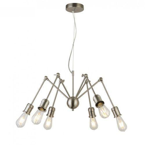 Lampa Wisząca Searchlight MANTIS Srebrny, 6-punktowe - Edison - Obszar wewnętrzny - MANTIS - Czas dostawy: od 10-14 dni roboczych