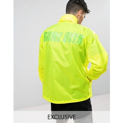 Reclaimed vintage  inspired retro lightweight jacket in neon yellow - yellow
