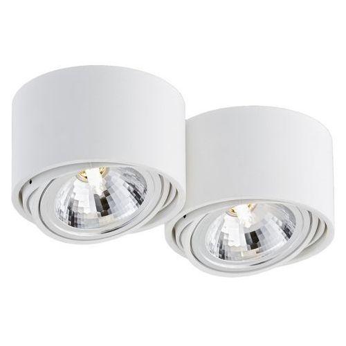 Kaspa - Oprawa stropowa natynkowa podwójna - Lumos - biała - biały