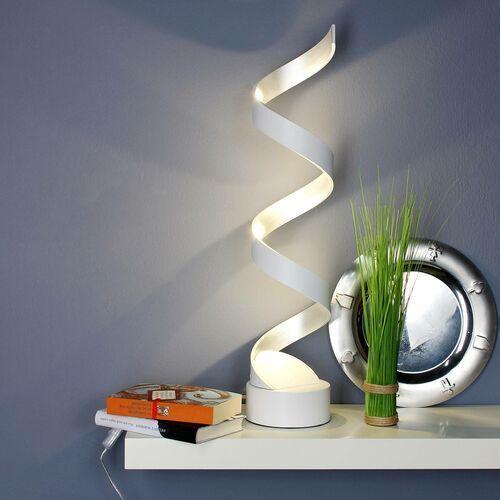 Lampa stołowa LED Helix, 66 cm, biało-srebrna