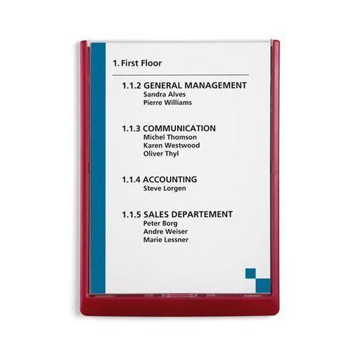 Durable Tabliczka informacyjna, wys. x szer. x głęb. 325x235x15 mm, opak. 5 szt., czerwo