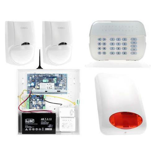ZA12536 Zestaw alarmowy DSC 2x Czujnik ruchu Manipulator LED Powiadomienie GSM