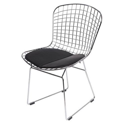 Krzesło Harry czarna poduszka MODERN HOUSE bogata chata