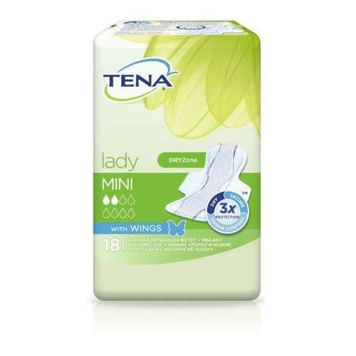 Tena - sca hygiene products Tena lady mini wings wkładki higieniczne x 18 sztuk