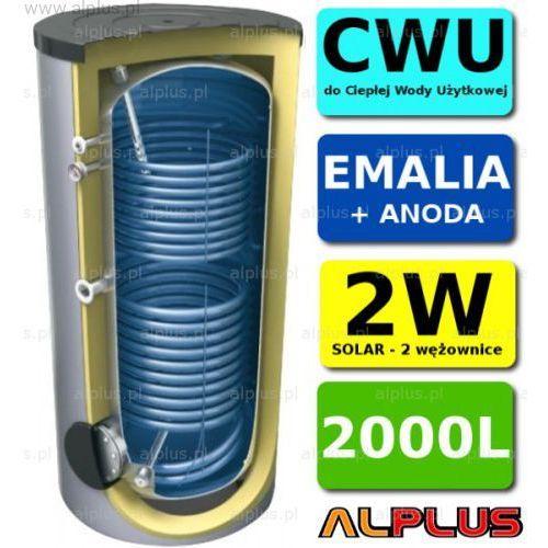 Zasobnik 2000l z 2 wężownicami, solarny, do podgrzewania wody użytkowej, emaliowany +anoda marki Lemet
