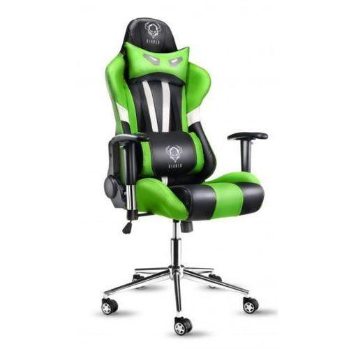 Fotel x-eye czarno-biało-zielony + zamów z dostawą jutro! + darmowy transport! marki Diablo