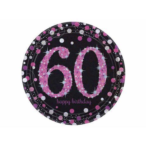 Talerzyki na sześćdziesiąte urodziny - 23 cm - 8 szt. (0013051637866)