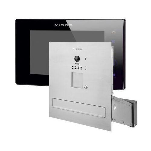 Zestaw wideodomofonu cyfrowego skrzynka na listy Vidos S1201A-SKM M1021B