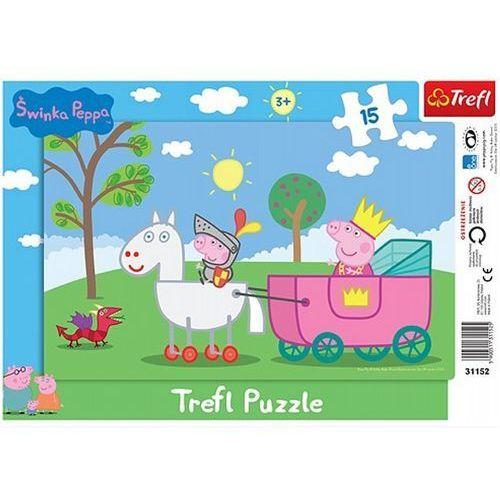Puzzle  ramkowe świnka peppa rycerz 31152 (15 elementów) marki Trefl