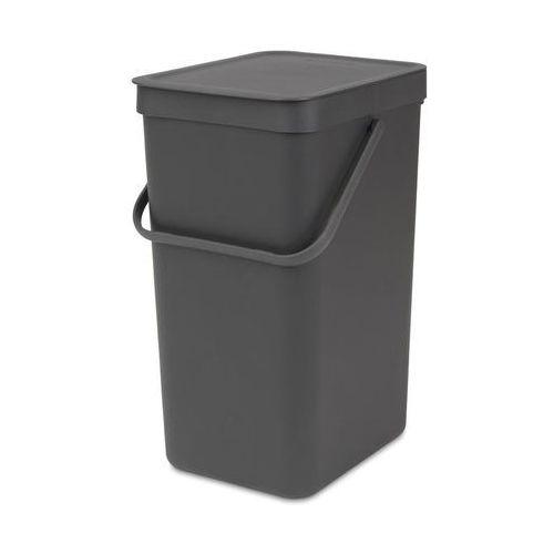 Brabantia Kosz do segregacji odpadów sort & go 16 l szary (8710755109966)