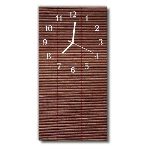 Zegar szklany pionowy bambus roleta brązowy marki Tulup.pl