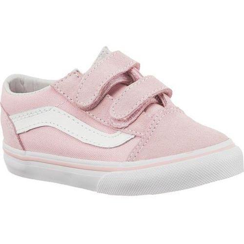 td old skool v suede canvas q7k chalk pink true white - buty sneakersy marki Vans