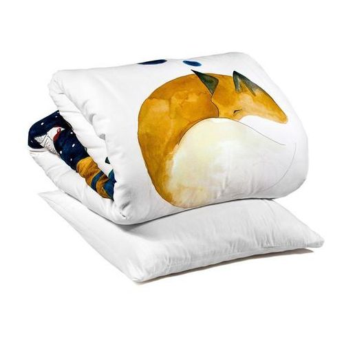 Foonka Pościel śpiący lis 100 x 135 cm z poszewką na poduszkę 60 x 40 cm