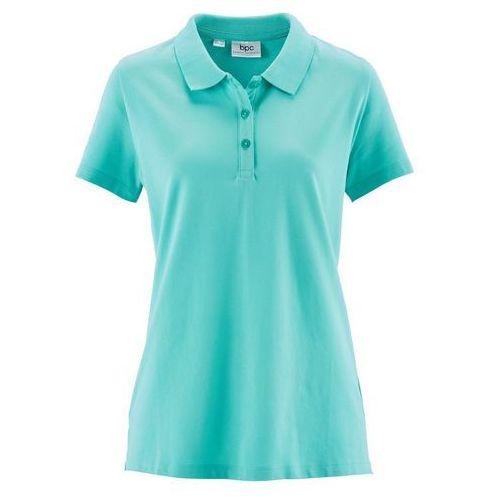 Shirt polo z rękawami 1/2 bonprix zielony oceaniczny, w 6 rozmiarach