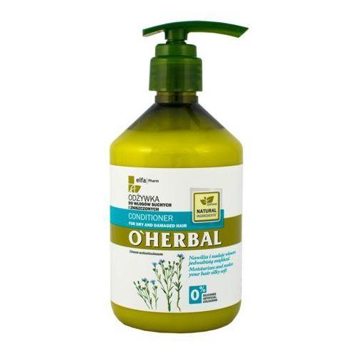 Elfa Pharm O'Herbal Odżywka do włosów suchych i zniszczonych z lnem 500ml - Elfa Pharm. DARMOWA DOSTAWA DO KIOSKU RUCHU OD 24,99ZŁ (5901845500500)