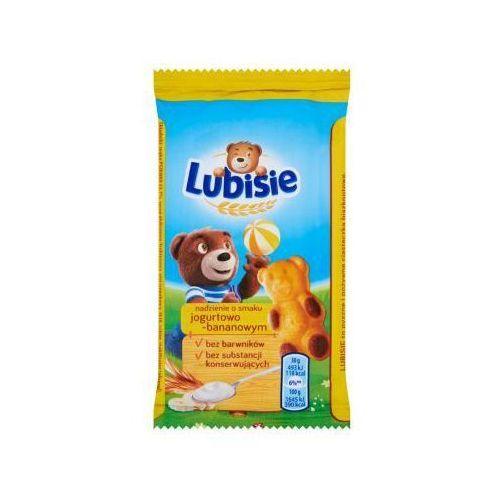 Ciastko biszkoptowe z nadzieniemPetitki Lubisie Miś o smaku jogurtowo-bananowym 30 g