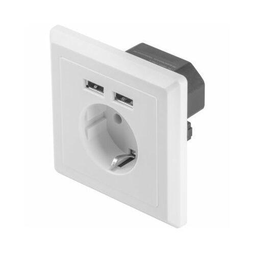 Gniazdo podtynkowe Lanberg AC-WS01-USB2-F (USB 2.0) (5901969414424)