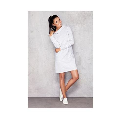 Sukienka Model M012 Light Grey, kolor szary