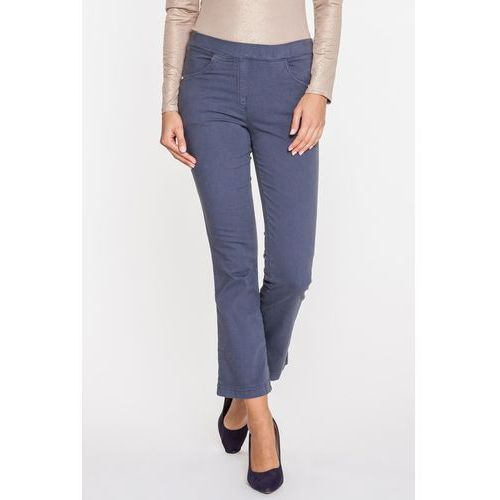 Klasyczne spodnie dżinsowe w popielatym kolorze - Anataka, kolor szary