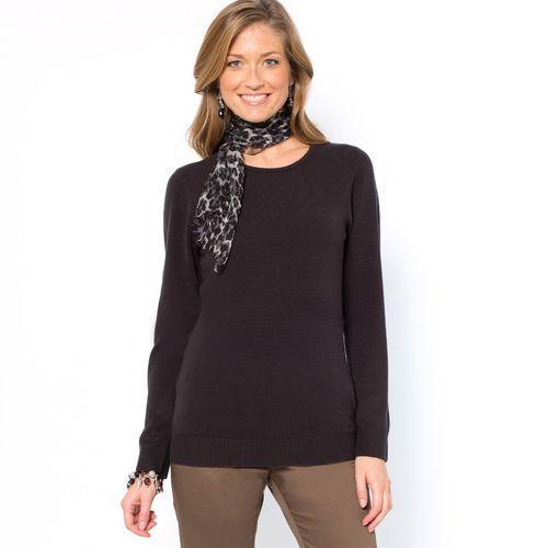 Sweterek z okrągłym dekoltem, kaszmirowy w dotyku, Anne weyburn