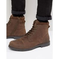 lace up worker boots brown - brown, Red tape