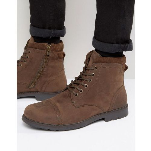 lace up worker boots brown - brown marki Red tape