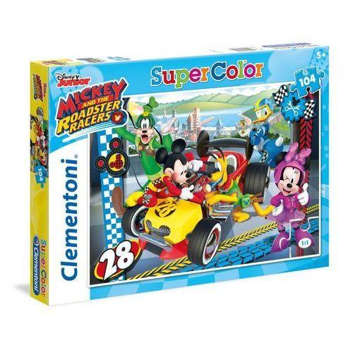Puzzle supercolor mickey roadster race 104 marki Clementoni