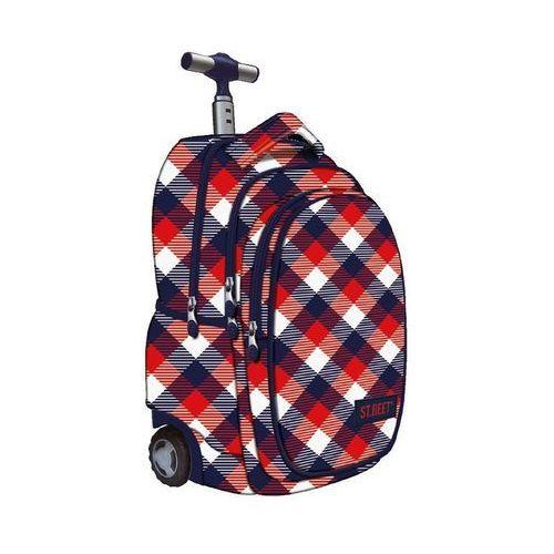 St.reet plecak szkolny na kółkach krata czerwono-granatowa 609640 od producenta St. majewski
