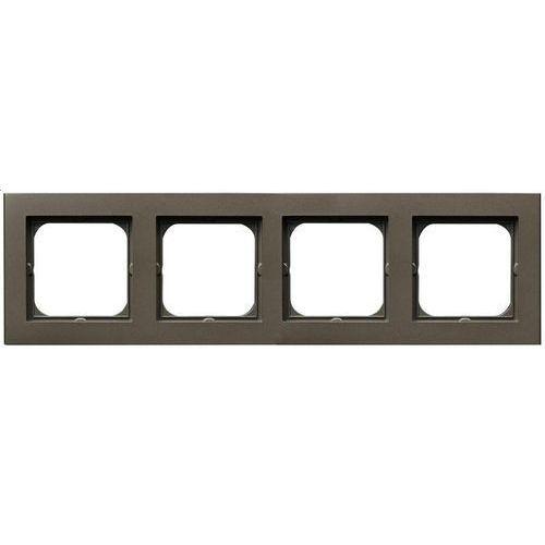 Ramka poczwórna SONATA Ospel czekoladowy metalik pozioma i pionowa R-4R/40, R-4R/40