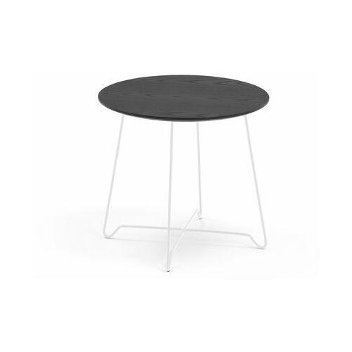 Stół kawowy IRIS, wys. 460 mm, biały, czarny